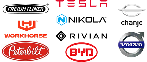 Companies which will have EV Trucks soon include Freightliner, Tesla, Chanje, Workhorse, Nicola, Volvo, Peterbilt, Rivian, and BYD
